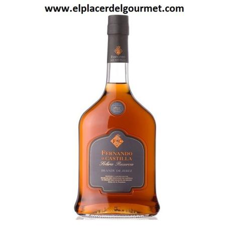 WINE JEREZ brandy SOLERA GRAN RESERVA ORO 50 cl.FERNANDO DE CASTILLA