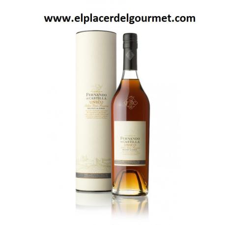 VINO JEREZ brandy SOLERA RESERVA PLATA 50 cl.FERNANDO DE CASTILLA