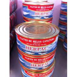 Filetes de Melva canutera de Barbate en aceite de oliva 1015 gr.