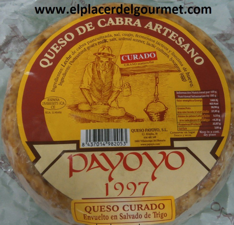 Payoyo cheese cured goat in butter 2 k.