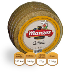 Cheese There mixes cured Native of La Mancha Manzer 3kg