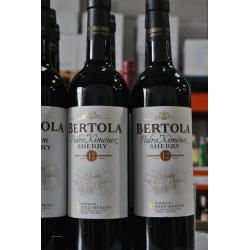 Pedro Ximenez sherry wine BERTOLA 12 YEARS 75 CL.D.O. Jerez Xérès Sherry